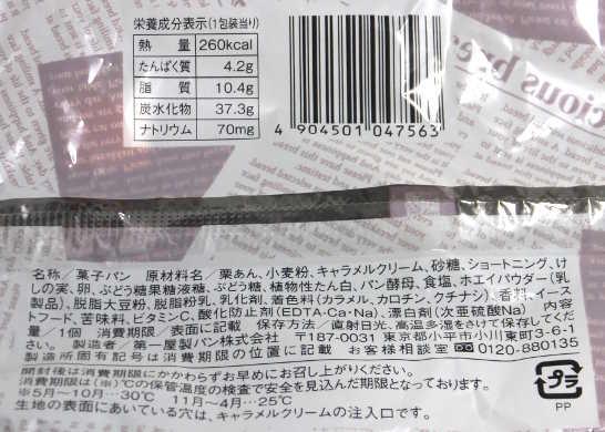 コンビニパンだ_たっぷりキャラメルマロン【ローソン】_カロリー原材料表示00