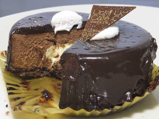 コンビニスイーツだ_カカオ香るチョコレートケーキ【ローソン】中身04
