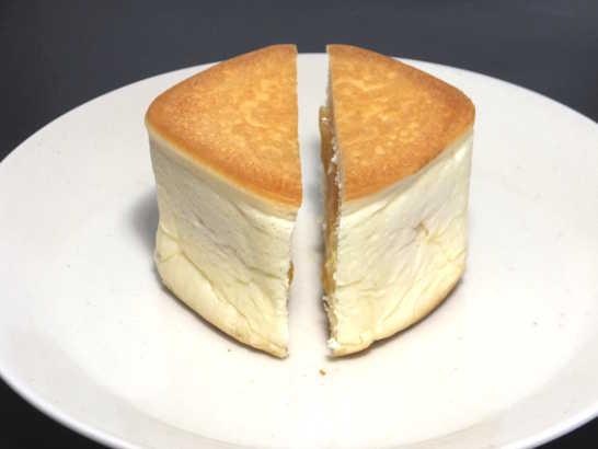 コンビニパンだ_リンゴの入った四角いクリームパン 北海道小麦・春よ恋【ローソン】中身03