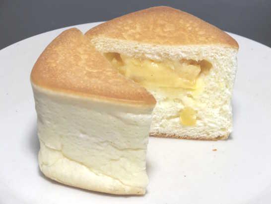 コンビニパンだ_リンゴの入った四角いクリームパン 北海道小麦・春よ恋【ローソン】中身05