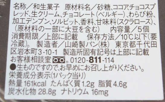 コンビニパンだ_ひとくちチョコわらび餅【ローソン】カロリー原材料表示00