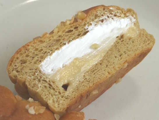 コンビニパンだ_ブランのバナナクリーム&ホイップパン【ローソン】中身03