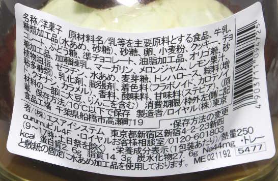 コンビニスイーツだ_メロンとミルクプリンのケーキ【セブンイレブン】カロリー原材料表示00