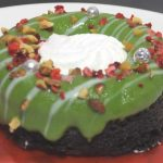 緑のクリスマスリースのケーキ【ローソン】