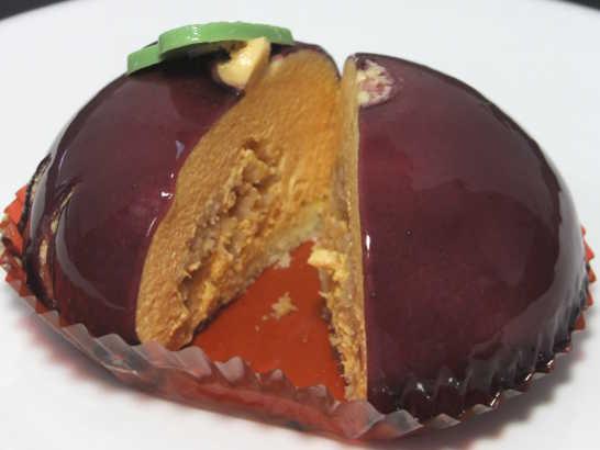 コンビニスイーツだ_安納芋のムースケーキ クッキー&芋ブリュレ【セブンイレブン】中身04